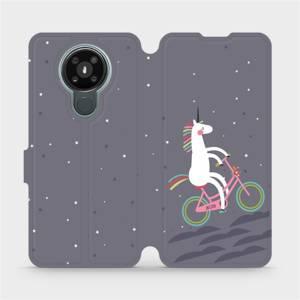 Flipové pouzdro Mobiwear na mobil Nokia 3.4 - V024P Jednorožec na kole