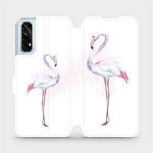 Flipové pouzdro Mobiwear na mobil Realme 7 - M005S Plameňáci