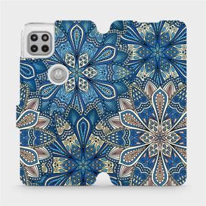 Flipové pouzdro Mobiwear na mobil Motorola Moto G 5G - V108P Modré mandala květy