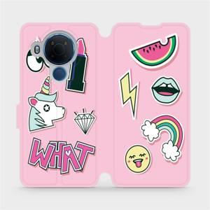 Flipové pouzdro Mobiwear na mobil Nokia 5.4 - M129S Růžové WHAT