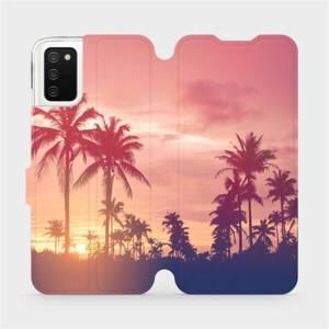 Flipové pouzdro Mobiwear na mobil Samsung Galaxy A02s - M134P Palmy a růžová obloha