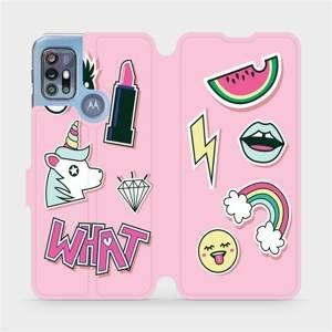 Flipové pouzdro Mobiwear na mobil Motorola Moto G20 - M129S Růžové WHAT