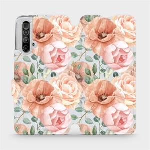 Flip pouzdro Mobiwear na mobil Realme X3 SuperZoom - MP02S Pastelové květy