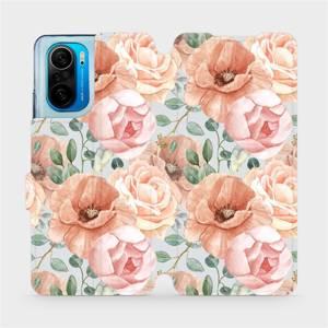 Flip pouzdro Mobiwear na mobil Xiaomi POCO F3 - MP02S Pastelové květy
