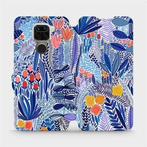 Flip pouzdro Mobiwear na mobil Xiaomi Redmi Note 9 - MP03P Modrá květena