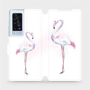 Flip pouzdro Mobiwear na mobil Vivo X60 Pro 5G - M005S Plameňáci