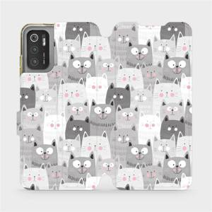 Flip pouzdro Mobiwear na mobil Xiaomi Poco M3 Pro 5G - M099P Kočičky