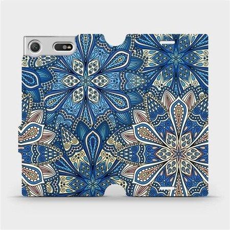 Flipové pouzdro Mobiwear na mobil Sony Xperia XZ1 Compact - V108P Modré mandala květy