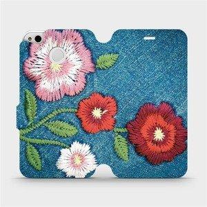 Flipové pouzdro Mobiwear na mobil Xiaomi Redmi 4X - MD05P Džínové květy