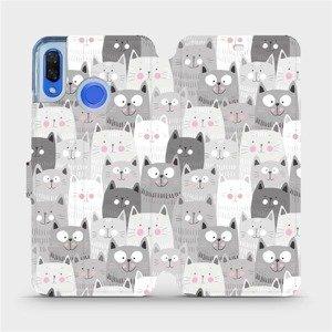 Flipové pouzdro Mobiwear na mobil Huawei Nova 3 - M099P Kočičky
