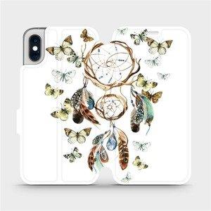 Flipové pouzdro Mobiwear na mobil Apple iPhone XS - M001P Lapač a motýlci
