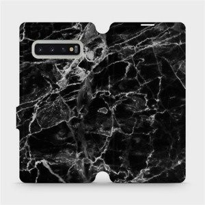 Flipové pouzdro Mobiwear na mobil Samsung Galaxy S10 Plus - V056P Černý mramor