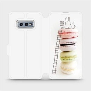 Flipové pouzdro Mobiwear na mobil Samsung Galaxy S10e - M090P Makronky - have a nice day