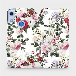 Flipové pouzdro Mobiwear na mobil Huawei Y6S - MD01S Růže na bílé