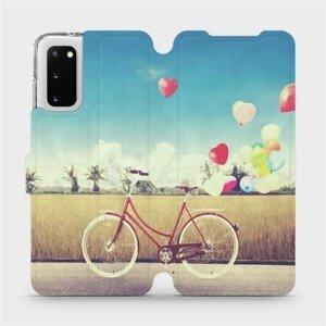 Flipové pouzdro Mobiwear na mobil Samsung Galaxy S20 - M133P Kolo a balónky
