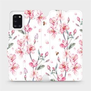Flipové pouzdro Mobiwear na mobil Samsung Galaxy A31 - M124S Růžové květy