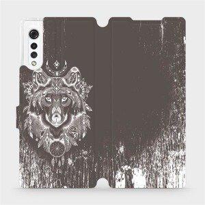 Flipové pouzdro Mobiwear na mobil LG Velvet - V064P Vlk a lapač snů