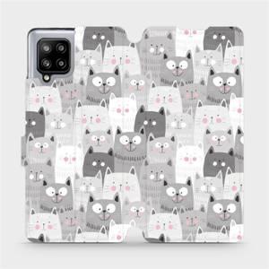 Flipové pouzdro Mobiwear na mobil Samsung Galaxy A42 5G - M099P Kočičky