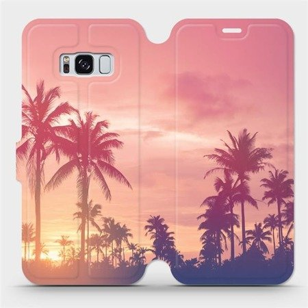 Flipové pouzdro Mobiwear na mobil Samsung Galaxy S8 - M134P Palmy a růžová obloha
