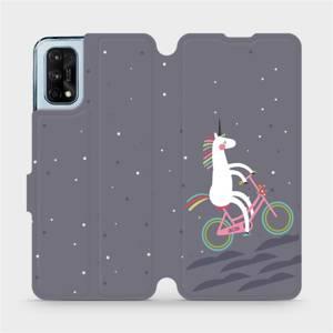Flipové pouzdro Mobiwear na mobil Realme 7 Pro - V024P Jednorožec na kole