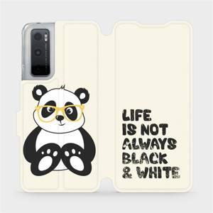 Flipové pouzdro Mobiwear na mobil Vivo Y70 - M041S Panda - life is not always black and white