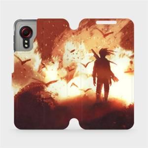 Flipové pouzdro Mobiwear na mobil Samsung Galaxy Xcover 5 - MA06S Postava v ohni