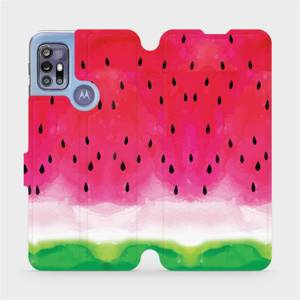 Flipové pouzdro Mobiwear na mobil Motorola Moto G30 - V086S Melounek