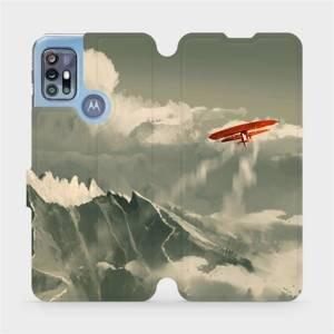 Flipové pouzdro Mobiwear na mobil Motorola Moto G20 - MA03P Oranžové letadlo v horách
