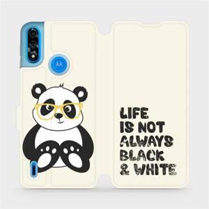 Flipové pouzdro Mobiwear na mobil Motorola Moto E7i Power - M041S Panda - life is not always black and white