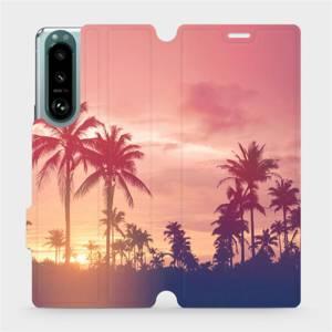 Flip pouzdro Mobiwear na mobil Sony Xperia 5 III - M134P Palmy a růžová obloha