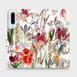 Flip pouzdro Mobiwear na mobil Huawei P30 - MP01S Rozkvetlá louka