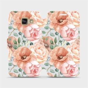 Flip pouzdro Mobiwear na mobil Samsung Galaxy A3 2016 - MP02S Pastelové květy