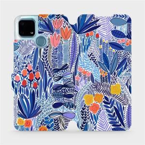 Flip pouzdro Mobiwear na mobil Realme 7i - MP03P Modrá květena