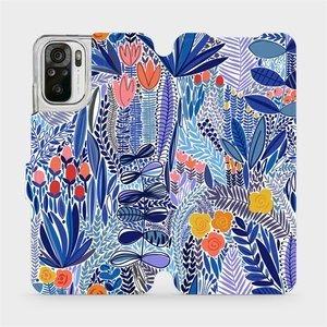 Flip pouzdro Mobiwear na mobil Xiaomi Redmi Note 10 - MP03P Modrá květena
