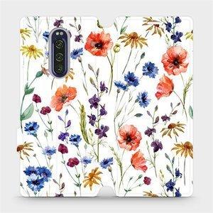 Flip pouzdro Mobiwear na mobil Sony Xperia 1 - MP04S Luční kvítí