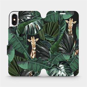 Flip pouzdro Mobiwear na mobil Apple iPhone X - VP06P Žirafky