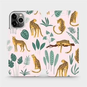 Flip pouzdro Mobiwear na mobil Apple iPhone 12 Pro - MP07S Leopardi