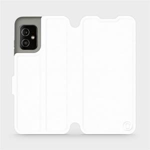 Flip pouzdro Mobiwear na mobil Asus Zenfone 8 v provedení C_WHS White&Gray s šedým vnitřkem