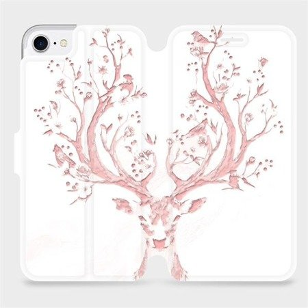 Flipové pouzdro Mobiwear na mobil Apple iPhone 7 - M007S Růžový jelínek