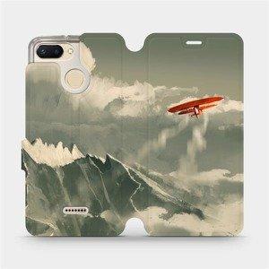 Flipové pouzdro Mobiwear na mobil Xiaomi Redmi 6 - MA03P Oranžové letadlo v horách