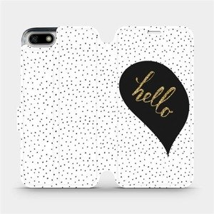Flipové pouzdro Mobiwear na mobil Honor 7S - M013P Golden hello