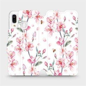 Flipové pouzdro Mobiwear na mobil Samsung Galaxy A40 - M124S Růžové květy