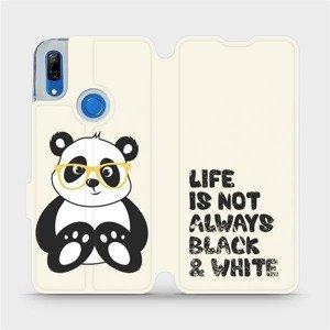 Flipové pouzdro Mobiwear na mobil Huawei P Smart Z - M041S Panda - life is not always black and white