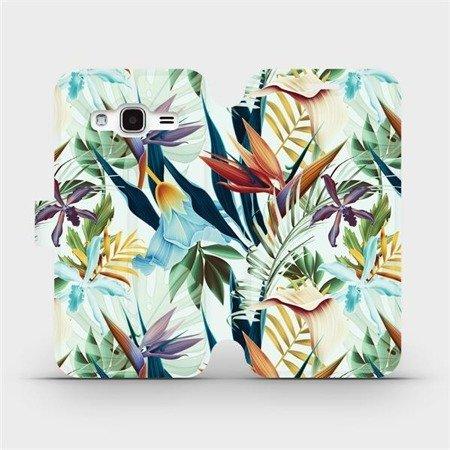 Flipové pouzdro Mobiwear na mobil Samsung Galaxy J3 2016 - M071P Flóra