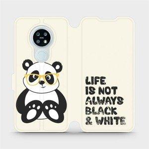 Flipové pouzdro Mobiwear na mobil Nokia 6.2 - M041S Panda - life is not always black and white