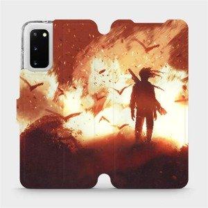 Flipové pouzdro Mobiwear na mobil Samsung Galaxy S20 - MA06S Postava v ohni