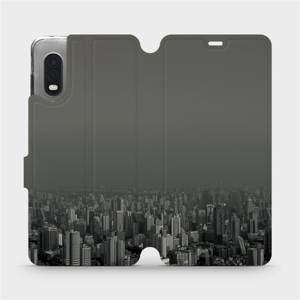 Flipové pouzdro Mobiwear na mobil Samsung Xcover PRO - V063P Město v šedém hávu