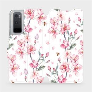 Flipové pouzdro Mobiwear na mobil Vivo Y70 - M124S Růžové květy