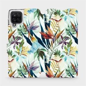 Flipové pouzdro Mobiwear na mobil Samsung Galaxy A12 - M071P Flóra