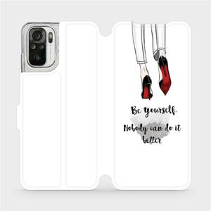 Flipové pouzdro Mobiwear na mobil Xiaomi Redmi Note 10 - M046P Be yourself